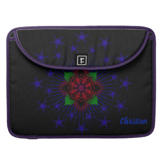 Jesus fish rose with stars sleeve for MacBook pro
