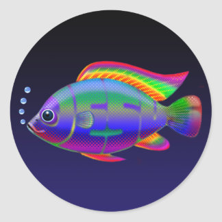 Jesus Fish Round Sticker