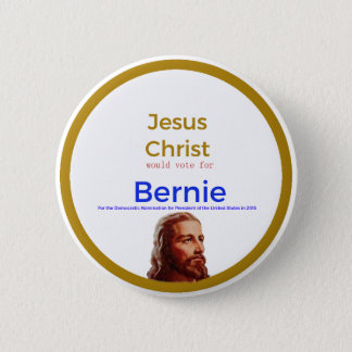 Jesus for Bernie 6 Cm Round Badge