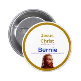 Jesus for Bernie 6 Cm Round Badge