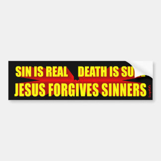 Jesus Forgives Sinners Bumper Sticker