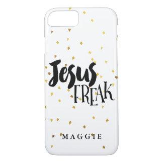 Jesus Freak Gold Shimmer Confetti iPhone 7 Case
