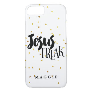 Jesus Freak Gold Shimmer Confetti iPhone 8/7 Case