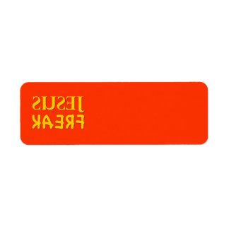 Jesus Freak (SUSEJ KAERF) Return Address Label