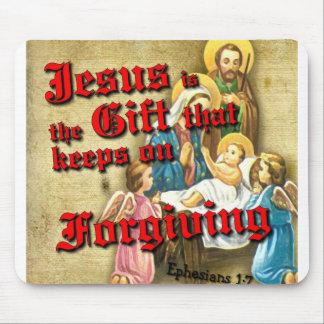 Jesus Gift Keeps Forgiving Mouse Pad