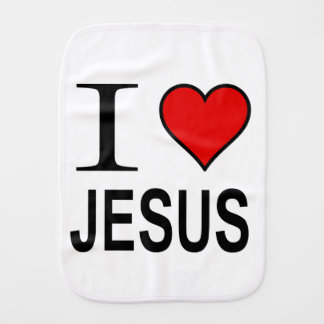Jesus gifts I love Jesus on a burping cloth
