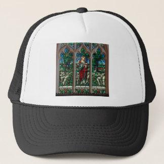 Jesus Good Shepherd Savior Mosaic Trucker Hat