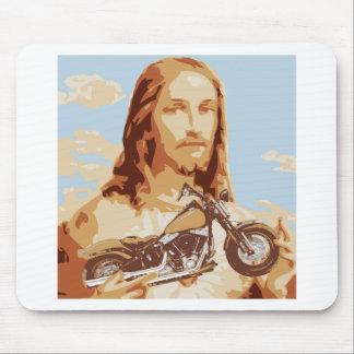 Jesus Harley Love Mousepads