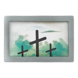 Jesus Has Risen (Three Crosses) Belt Buckles