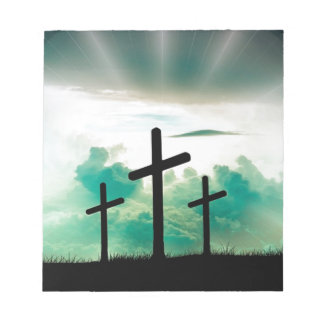 Jesus Has Risen (Three Crosses) Notepad