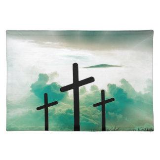 Jesus Has Risen (Three Crosses) Placemat