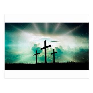 Jesus Has Risen (Three Crosses) Postcard