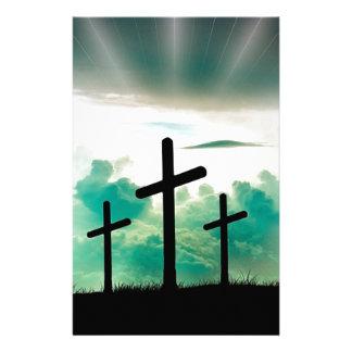 Jesus Has Risen (Three Crosses) Stationery