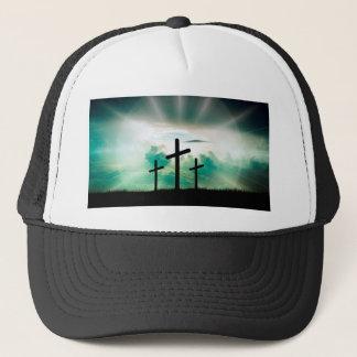 Jesus Has Risen (Three Crosses) Trucker Hat