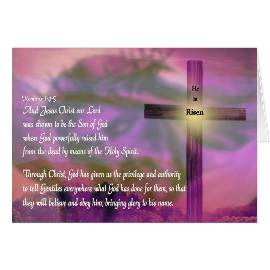 Jesus - He Is Risen - Easter Purple Card