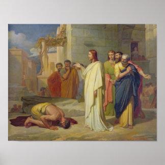 Jesus Healing the Leper, 1864 Poster
