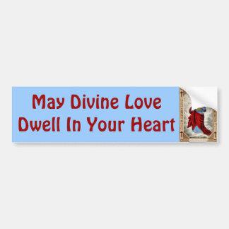 Jesus heart bumper sticker