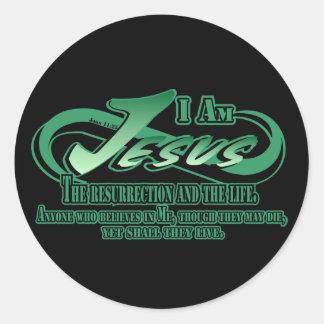 Jesus I Am The Ress Round Sticker