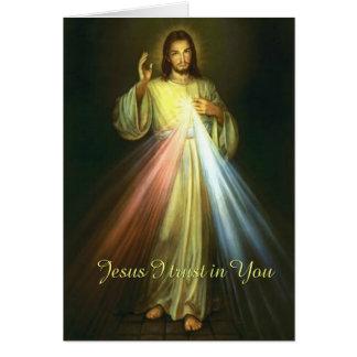 Jesus I Trust in You Divine Mercy Prayer Card