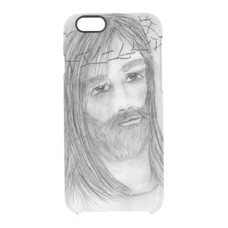 jesus in agony clear iPhone 6/6S case
