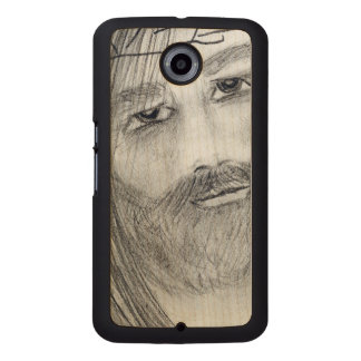 jesus in agony wood phone case