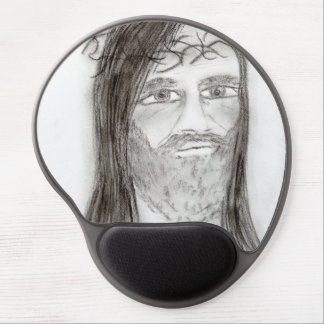 Jesus in Charcoal Gel Mouse Pad