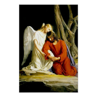 Jesus in the Garden of Gethsemane Poster