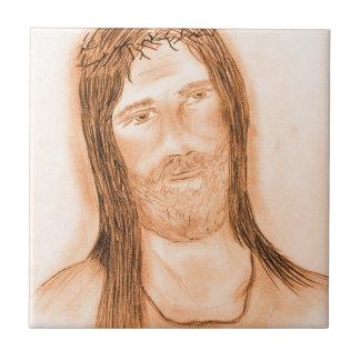 Jesus in the Light Ceramic Tile