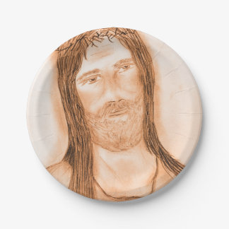 Jesus in the Light Paper Plate