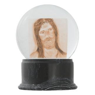 Jesus in the Light Snow Globe