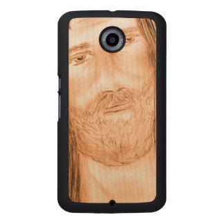 Jesus in the Light Wood Phone Case
