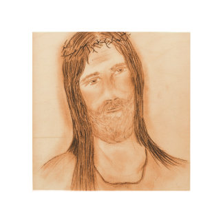 Jesus in the Light Wood Wall Art