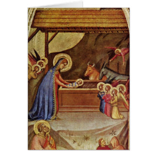 Jesus in the manger - Bernardo Daddi Card