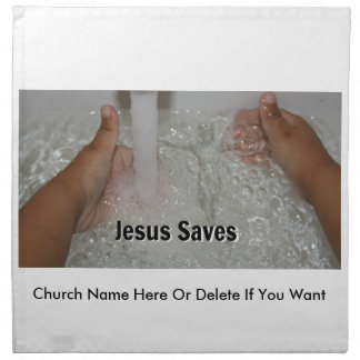 Jesus In Water With Two Thumbs Up Church Promotion Napkin