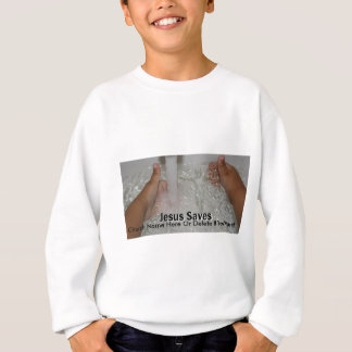 Jesus In Water With Two Thumbs Up Church Promotion Sweatshirt