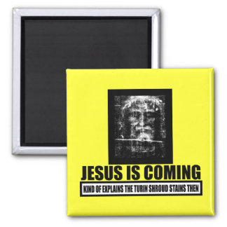 Jesus is coming atheist fridge magnets