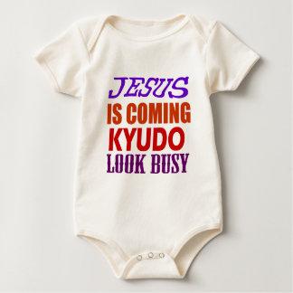 JESUS IS COMING KYUDO LOOK BUSY BABY BODYSUIT