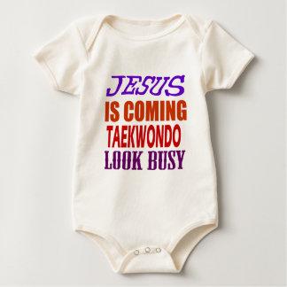 JESUS IS COMING TAEKWONDO LOOK BUSY BABY BODYSUIT