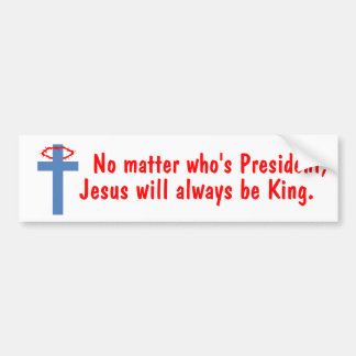 Jesus is King Bumper Sticker