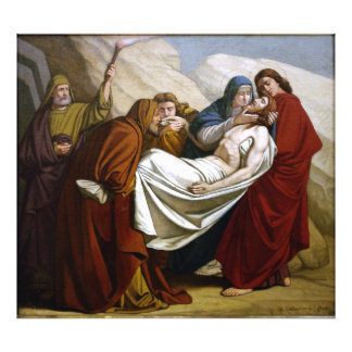 Jesus is Laid in the Tomb Stations of the Cross 14 Photo Print