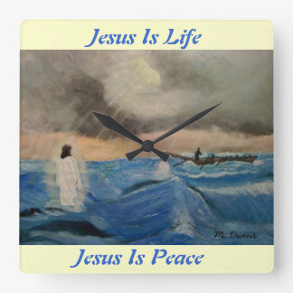 Jesus Is Life...Jesus Is Peace Wall Clock