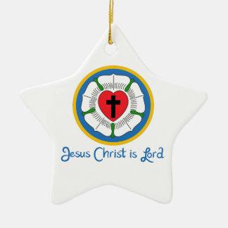 JESUS IS LORD CERAMIC STAR DECORATION