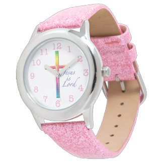 Jesus is Lord-Colorful Mosaic Cross Watch