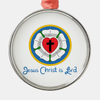 JESUS IS LORD Silver-Colored ROUND DECORATION