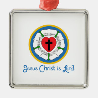 JESUS IS LORD Silver-Colored SQUARE DECORATION