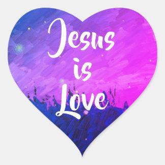 Jesus is Love | Heart Sticker