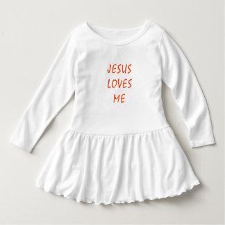 Jesus is love Toddler Ruffle Dress