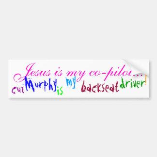 Jesus Is My Co-pilot... (bumper sticker) - Brt Pnk