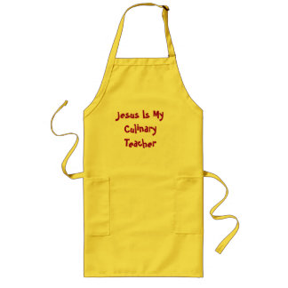 Jesus Is My Culinary Teacher Long Apron