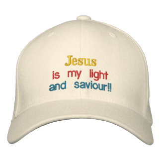 Jesus is my light , and saviour!!, embroidered hat